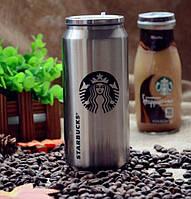 Термобанка , Банка стальная Starbucks Бутылка для воды Vacuum Cup Starbuck стальная