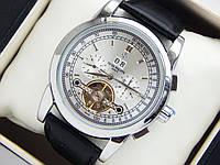 Мужские механические наручные часы Patek Philippe Base 1000 с турбийоном на кожаном ремешке, фото 1
