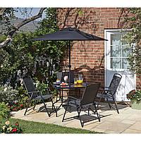 Набор садовой мебели George Home Miami 6 Piece Patio Set - Black & Charcoal