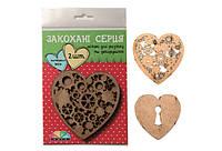 Набор заготовок Влюбленные Сердца 3,2, МДФ,10*10см, ROSA Talent,4801164