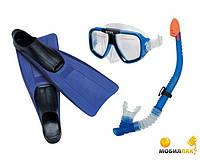 Набор для плавания Intex 55957, набор маска+трубка+ласты от 8лет, набор для подводного плавания