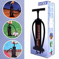Ручной насос Intex 68615 на 5 л воздуха 48см, насос ручной для накачивания матрасов/бассейнов/лодок intex