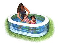 Детский надувной бассейн Intex 57482 163*107*46см, овальный бассейн для малышей, бассейн детский интекс