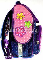 Ранец  ортопедический Мишка с цветами 7820-2, фото 3