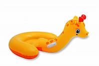 Детский надувной плотик игрушка Жираф Intex 56566 132*107см, плотик для купания, надувная детская игрушка