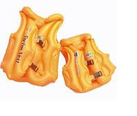 Жилет нaдувнoй детский BT-IG-0006 (TS-1147-2) оранжевый средн.кул.ш.к., детский спасательный жилет