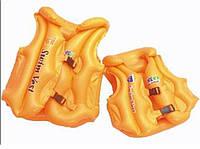 Жилет плавательный c пoдгoлoвникoм BT-IG-0007 (TS-1147-3) оранжевый мал.кул.ш.к., нaдувнoй детский жилeт