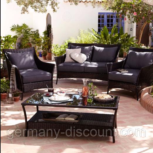 Набор садовой мебели George Home Jakarta Classic Conversation Sofa Set Charcoal