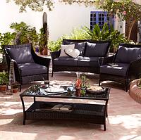 Набор садовой мебели George Home Jakarta Classic Conversation Sofa Set Charcoal, фото 1