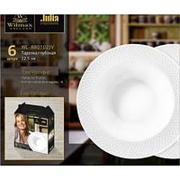 Набор глубоких фарфоровых тарелок Wilmax Julia Vysotskaya WL-880102-JV