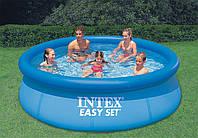 Надувной семейный бассейн Easy Set Intex 28146 (56932), большой бассейн для дачы 366 х 91см