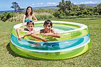 Детский надувной бассейн Intex 57489 с прозрачными стенками, бассейн надувной для детей 203*51см