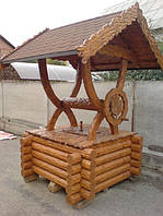 Деревянные колодцы под ключ | Строительство деревянных колодцев