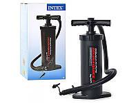 Ручной насос Intex 68605 средний 37см, насос ручной для накачивания матрасов/бассейнов/лодок Интекс