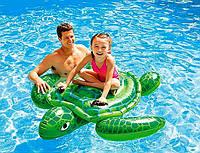 """Надувной плотик для ребенка """"Черепаха"""" Intex 57524 150*127см, детский надувной круг, плотик для плавания"""