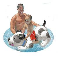 """Надувная игрушка для плавания """"Собачка"""" Intex 57521 138*91см, надувная игрушка долматин, плотик надувной"""