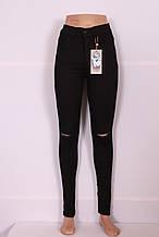 Женские черные высокие джинсы