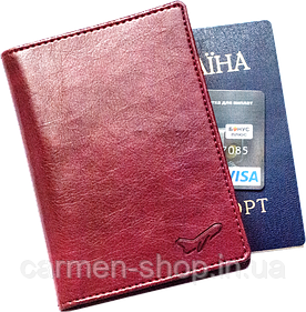 Обложка для паспорта Air Lux - винный