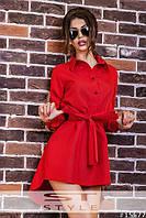 Повседневное платье-рубашка мода 2016