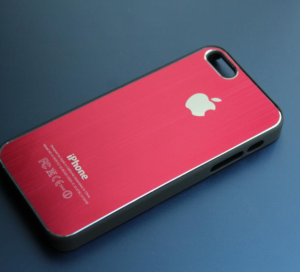 Чехлы для iPhone 5 5S металлические под дизайн телефона