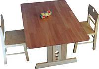 """Детский стол из дерева """"Юниор"""" 90х90см"""