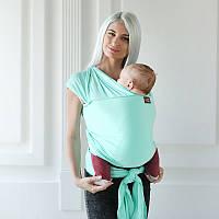 Трикотажный слинг-шарф Love & Carry — Минт