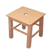 """Деревянные детские стулья без спинки """"Хокер"""" 26см"""