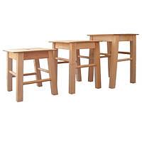 """Деревянные детские стулья без спинки """"Хокер"""" 34см"""