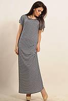 Длинное летнее платье Круиз  цвета: темно-синий,