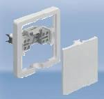 Розетка для подключения электроприборов, термопласт, скрытого монтажа, плоская цена купить, белый