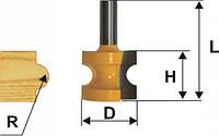 Фреза кромочная полустержневая ф28.6, r6.35, хв.8мм (арт.9312)
