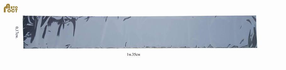 Наклейка лобовая 1,35м. на 0,17см. чёрный мат, фото 2