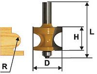 Фреза кромочная полустержневая ф41.3, r12.7, хв12мм (арт.10553)