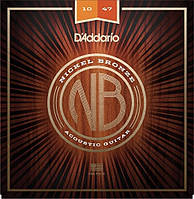 D'Addario NB1047 Nickel Bronze Extra Light Acoustic Guitar Strings 10/47
