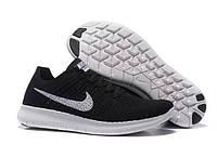 "Кроссовки мужские Nike Free Run Flyknit 5.0 ""Черно-белые"" р. 42, 45, фото 1"