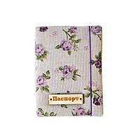 Обложка на паспорт Lilak Rose