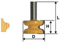 Фреза кромочная фигурная ф41.3х25.4, хв.12мм (арт.10579)