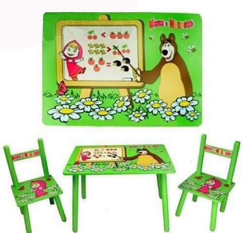 Детский стол и 2 стульчика  Bambi М 0295 Маша и Медведь