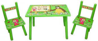 Детский стол и 2 стульчика  Bambi М 0295 Маша и Медведь, фото 2