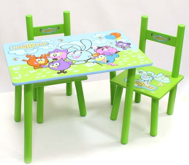 Детский стол и 2 стульчика Bambi М 0710 Смешарики