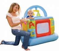 Детский надувной игровой центр манеж - батут 48473 Intex