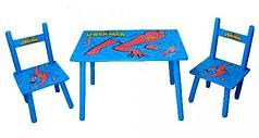 Детский стол и 2 стульчика  Bambi М 0294 Человек-Паук