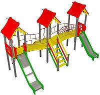 """Детский комплекс Kidigo """"Стена"""" высота горок 1,2 и 1,5 м"""