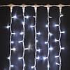 Мерцающий, светодиодный занавес (0,9х3м) Плей Лайт Белый Холодный