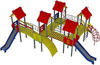 """Детский комплекс Kidigo """"Жабка"""" высота горок 1,2 и 1,5 м"""