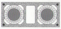 Керамическая двухходовая дымоходная система Schiedel Rondo Plus 18+18+w с вентиляцией