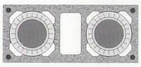 Керамическая двухходовая дымоходная система Schiedel Rondo Plus 16+20+w с вентиляцией, фото 1