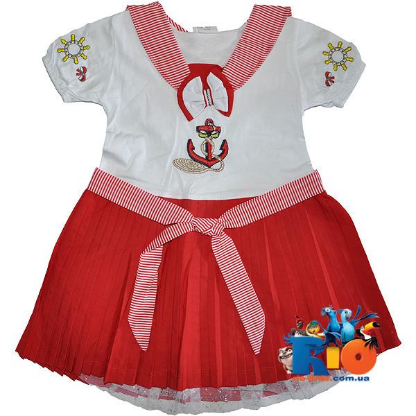 Платья на девочек морячка