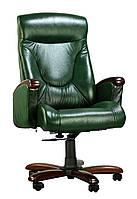 Кресло Галант DT орех Кожа Люкс комбинированная Авокадо (AMF-ТМ)