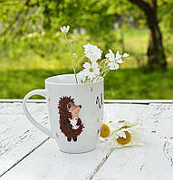 Чашка декорированная полимерной глиной, чашка сувенир, кружка в подарок на день рождения